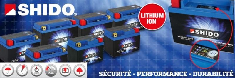 Shido L-ION : les batteries au poids réduit et à l'intensité augmentée
