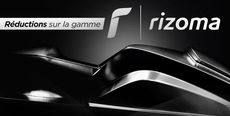 Rizoma : support de plaque, embouts de guidon, clignotants, rétroviseurs, commandes reculées, etc...