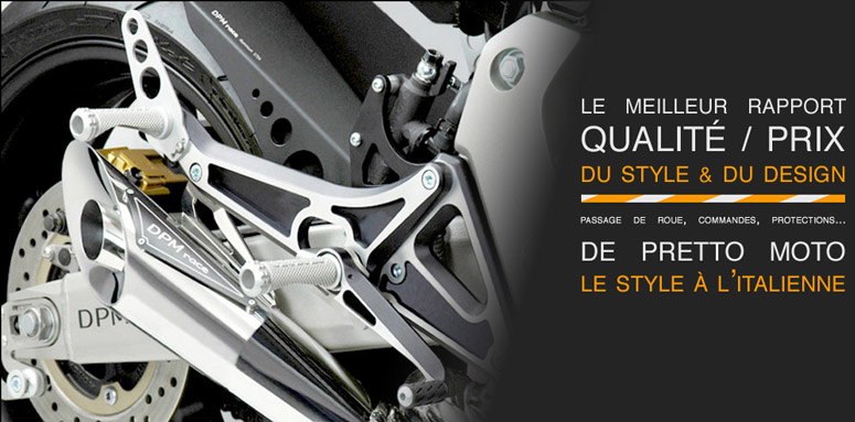 DPM Race : saute vent, lèche roue, support de plaque