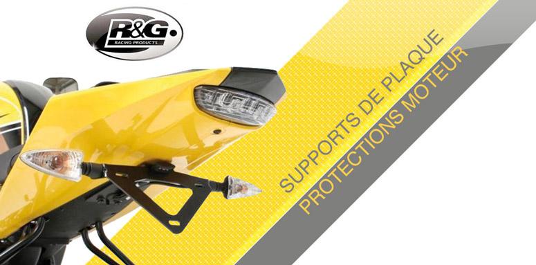 R&G Racing : supports de plaque, protections et accessoires moto