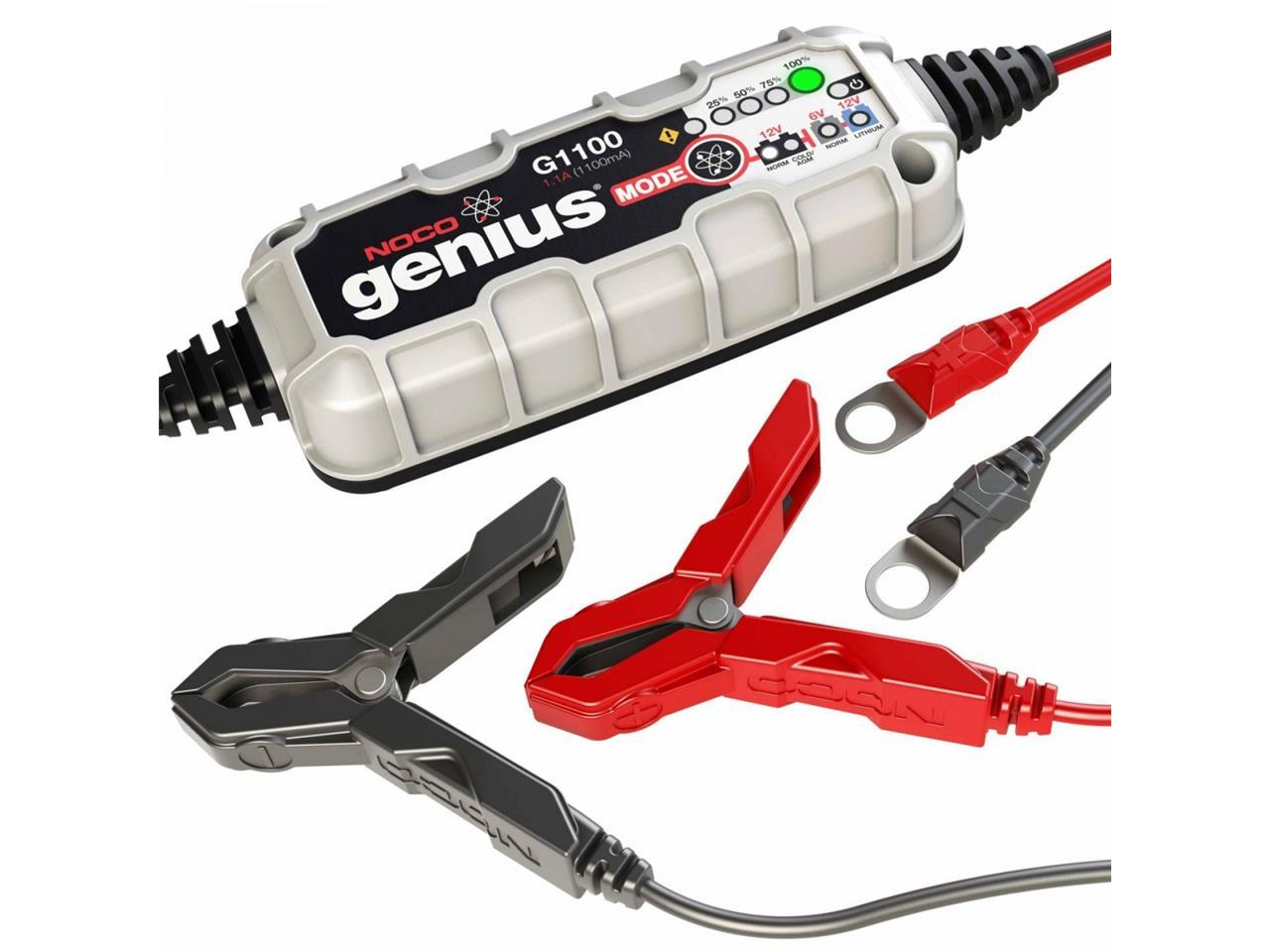 Chargeur de batterie NOCO Genius G1100 lithium 6/12V 1,1A 40Ah. Chargeur de batterie NOCO Genius G1100 lithium 6/12V 1,1A 40Ah