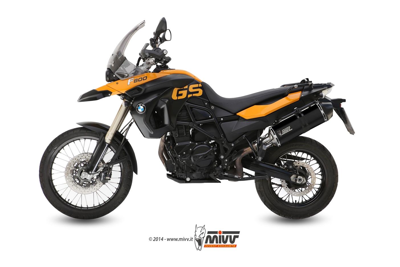 Silencieux homologué MIVV Speed Edge inox noir F650GS / F800GS (08-17)