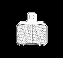 Plaquettes de frein CL Brakes 2827RX3 métal fritté