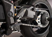 Couvre bras oscillant LighTech carbone brillant Speed Triple 1050 / R (11-15)