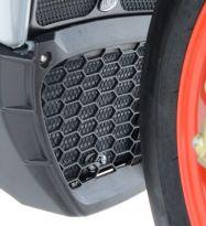 Protection de radiateur d'huile noire R&G RSV4RF / RR, Tuono V4 1100 / RR