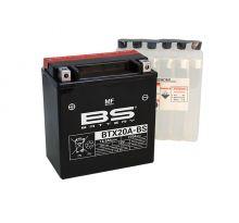 Batterie BS BTX20A-BS sans entretien livrée avec pack acide