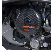 Slider moteur gauche carbone R&G KTM Autres