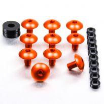 Vis carénage tête bombée alu orange M6x1,0x10mm Pro-Bolt x10