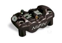 Etrier de frein 4 pistons radial avant gauche Noir Nissin N4RC108BL