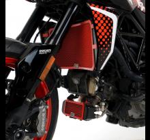 Protection de radiateur d'huile rouge R&G Hypermotard 950 (19-21)