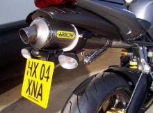 Support de plaque R&G Daytona 675 / R (06-12) silencieux Arrow Rond