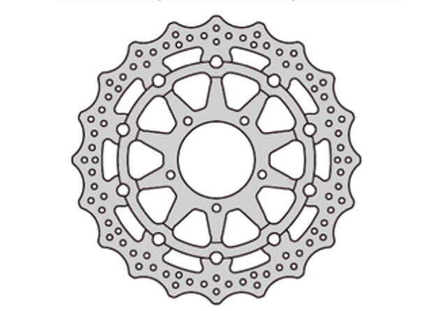 Disque de frein AV FE SBK GSX-R600 (06-07), 750 (05-07), 1000 (05-08)