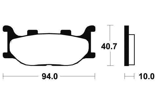 Plaquettes de frein Tecnium MF191 Métal fritté